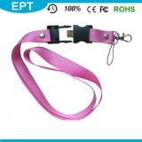 Poliéster Cheap Custom Printing Lanyard Neck Strap USB Flash Drive