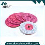 Polimento molhado flexível de diamante de mármore e granito