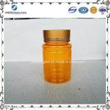 OEM 80ml黄色いペット薬のびんのプラスチック包装のびん