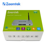 Nueva llegada Zoomtak T8h Quad Core Android 5.1 S905 Kodi 16,1 Android TV Box