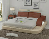 [لب8802] حديثة مصمّم أثاث لازم [لد] خفيفة قابل للتعديل مسند رأس جلد سرير