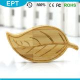 La forme des feuilles de bois Logo personnalisé lecteur Flash USB (TW074)