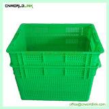 Venta caliente ventilado de plástico de alta calidad de apilamiento de frutas y verduras Tote