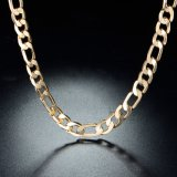 힙합 보석 돌 없는 금에 의하여 도금되는 링크 사슬 목걸이