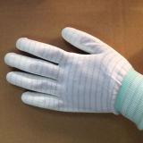 Линия перчатки волокна углерода ESD PU Plam Coated