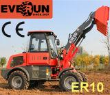 Новый Everun 1,0 тонн Небольшой снег колесный погрузчик ковша