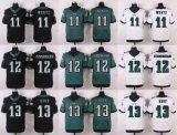 Мужской костюм для детей женщин малышей Филадельфии Орлов Карсон Wentz Рэндалл Каннингем Elite черный зеленый белый американского футбола футболках nikeid, пользовательские любое имя цифры