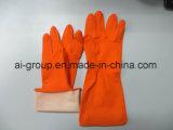 Желтый резиновые перчатки для домашних хозяйств кухня очистка