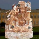 Piedra de granito tallado en mármol natural Jardín Acuático estatua decorativa fuente