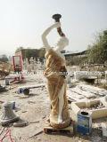 sulla vendita una coppia di statua di marmo che intaglia la statua di Ladys con indicatore luminoso (SY-MS101)