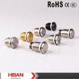 세륨 RoHS Hban 나사식 터미널 19mm 방수 금속 누름단추식 전쟁 스위치