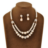 Insieme di vetro d'imitazione di cristallo di vendita superiore dei monili di costume dell'indumento della perla