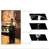 Les glaces de vin créatrices de cuvette de consommation de vin ont placé la cuvette en verre de vin