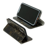 iPhone x를 위한 대리석 무늬를 넣는 PU 가죽 이동 전화 지갑 상자