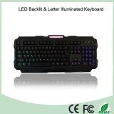 Клавиатуры разыгрыша регулировки яркости материалов ABS загоранные СИД (KB-1901EL-LB)