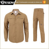 Esdy Men's Outdoor Respirável Quick-Drying Long-Sleeved Shirt