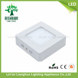 6W SMD LED de montagem em superfície de painel redondo de iluminação