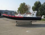 Barco de motor de la costilla de Aqualand 20feet los 6.2m/barco de pesca inflable rígido (RIB620D)