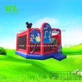 Tema do balão colorido de alta qualidade Combo inflável com escorrega para as crianças a fazer jogos desportivos de Diversões