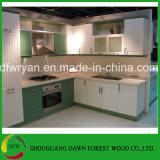 Diseños de la cabina de cocina del PVC de la cabina de cocina de madera del precio de fábrica de la cabina de cocina de los muebles de la cocina del bosque del amanecer