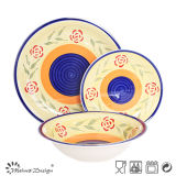 30PCS Ceramic Stoneware Dinner Set 5persons Home Use