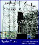 Grosses Konzert verwendeter galvanisierter Stahlschicht-Binder in Guangzhou als Hintergrund