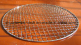 Wood Handleの便利なRound Barbecue Grill Wire Mesh
