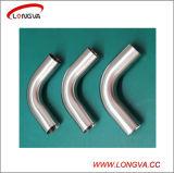Coude sanitaire d'ajustage de précision de pipe de Bpe d'acier inoxydable