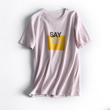 Новые поступления круглой горловины Женская футболка поставщика