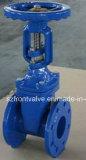 O ANSI flangeou válvula de porta assentada metal do ferro de molde da extremidade