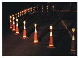 LED Segurança Rodoviária piscando Solar luz de advertência para o Cone de Trânsito