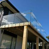 Railing палубы Tempered стекла Frameless/балюстрада крылечку с поручнем