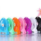 Único novo design Ventilador USB portátil Recarregável Mini USB Ventilador LED Light USB Mini Fan