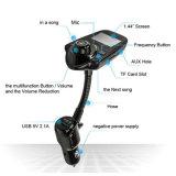 Trasmettitore Handsfree senza fili dell'automobile FM del trasmettitore T10 di Shenzhen 5V 2.1A T10 Bluetooth FM