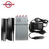 8 antenas Portablecellphone Jammer señal GPS, Control Remoto Jammer/Blocker, de mano de la banda de 8 Jammer /Blocker, teléfono móvil GSM 2G 3G 4G señal wifi Jammer