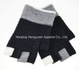100 % de los dedos de la mitad de acrílico de guantes tejidos (HY17111008)