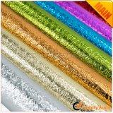 Серебристый металлик Gold нетканого материала с покрытием ткани для сумок и окантовкой и т.д.