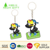 DecorativeきれいなCustom Eco Friendly二重Sided Kidsのための3D PVC Rubber Animal Bird Keychain