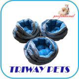 Tecido impresso e Mini-Plush Cão Gato camas (WY1711070A/C)
