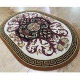 Imagem de mosaicos de mármore tapete oval para sala de estar