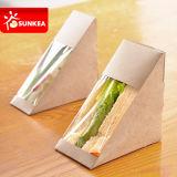 Картонный треугольник Wrap сэндвич окно для упаковки