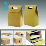 Guangzhou Custom Handmade plegado de papel Kraft Arte / Bolsa de regalo Shopping Bag bolsas portátiles
