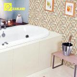 30*30mm pulido azulejos de porcelana con mosaico de piedra blanca