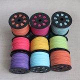 Cordón de cuero de colores gamuza suave Hilo de rosca plana Lace String Craft