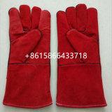 14' Red Cow Cuero guantes para trabajos de soldadura