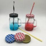 Großverkauf farbiges bleifreies Glasglas des maurer-450ml mit Griff