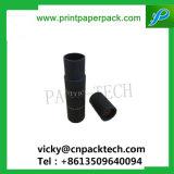 Negro de lujo estampado de lámina de papel cartón redonda Caja de Té de regalo