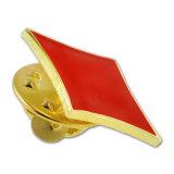 가장 새로운 주문을 받아서 만들어진 카드 모양 싼 사기질 금속 접어젖힌 옷깃 Pin