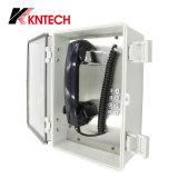 Sistema di comunicazione resistente all'intemperie del telefono Knsp-22 con il microtelefono speciale dell'ABS