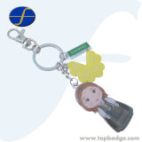 Promoção Wholesal foto mais barato personalizado Impressão de metal chaveiro (FTKC3058A)